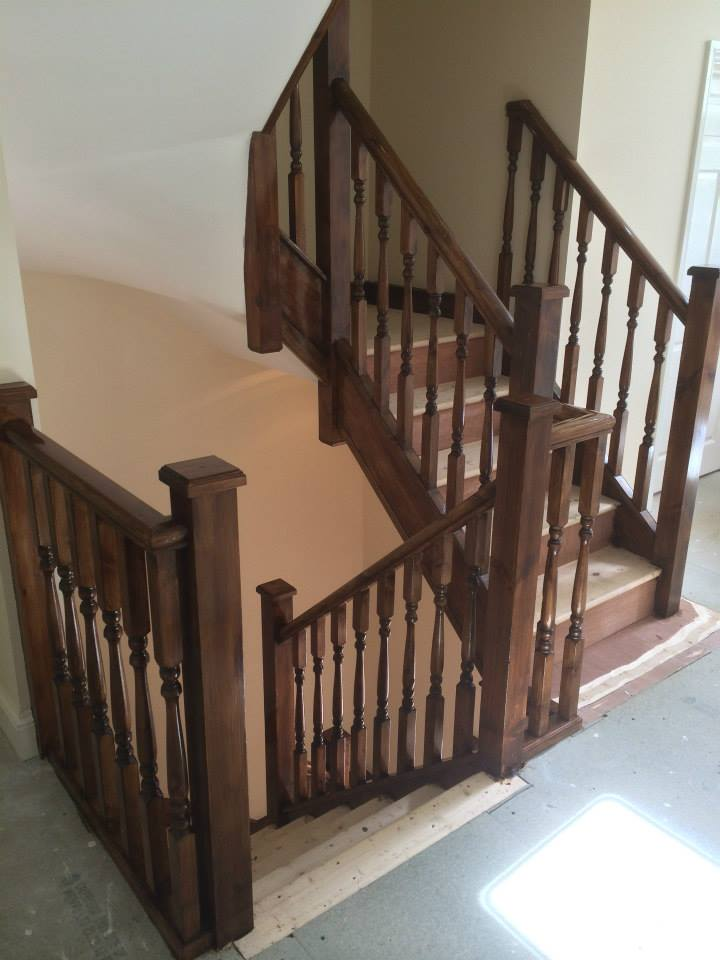 Varnished staircase renovation